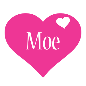 Moe love-heart logo