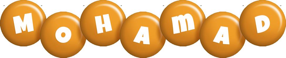 Mohamad candy-orange logo