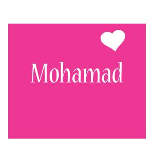 Mohamad love-heart logo