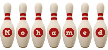 Mohamed bowling-pin logo