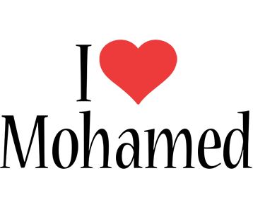 Mohamed i-love logo