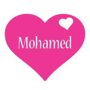 Mohamed love-heart logo