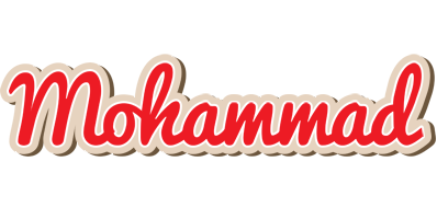 Mohammad chocolate logo