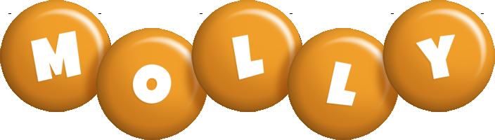 Molly candy-orange logo