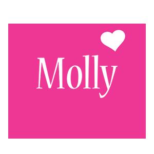 Molly love-heart logo