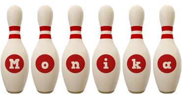 Monika bowling-pin logo