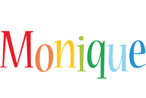 Monique birthday logo