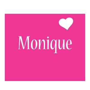 Monique love-heart logo