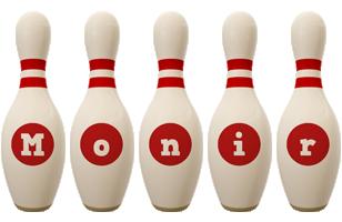 Monir bowling-pin logo