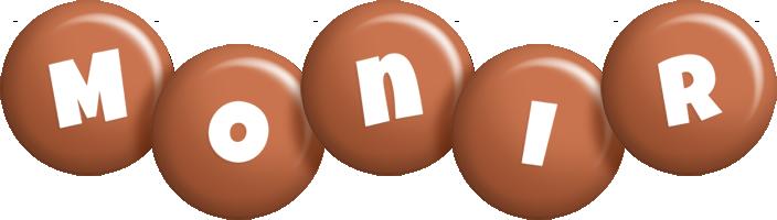 Monir candy-brown logo