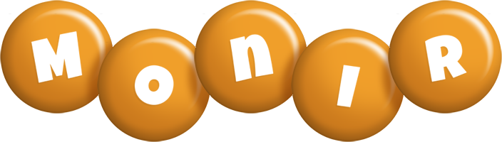 Monir candy-orange logo