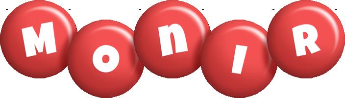 Monir candy-red logo