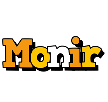 Monir cartoon logo