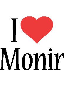 Monir i-love logo