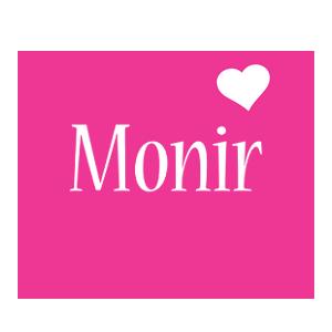 Monir love-heart logo