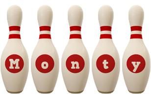 Monty bowling-pin logo
