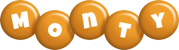 Monty candy-orange logo