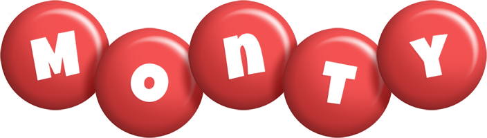 Monty candy-red logo