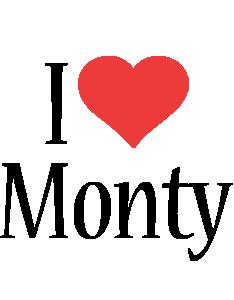 Monty i-love logo