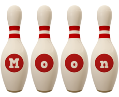 Moon bowling-pin logo
