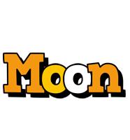 Moon cartoon logo