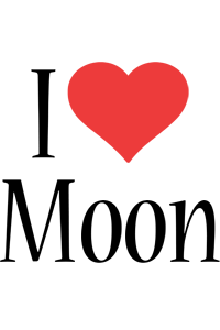 Moon i-love logo
