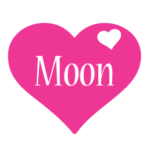 Moon love-heart logo