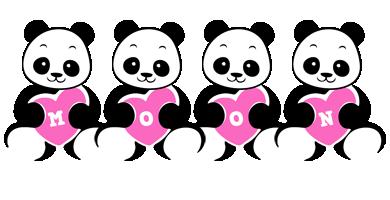 Moon love-panda logo