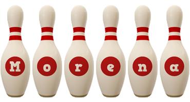 Morena bowling-pin logo