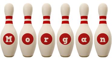Morgan bowling-pin logo
