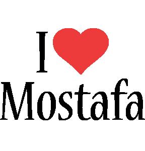 Mostafa i-love logo