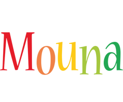 Mouna birthday logo