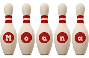 Mouna bowling-pin logo