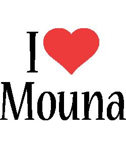 Mouna i-love logo