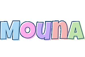 Mouna pastel logo