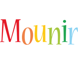 Mounir birthday logo