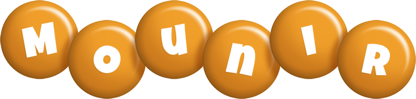 Mounir candy-orange logo
