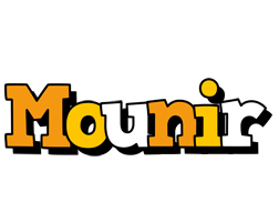Mounir cartoon logo
