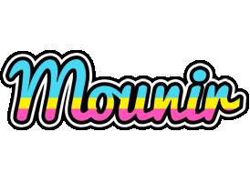 Mounir circus logo