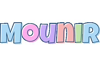 Mounir pastel logo