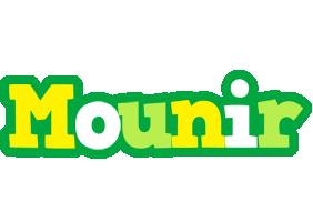 Mounir soccer logo