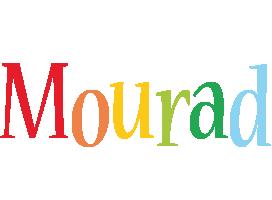 Mourad birthday logo