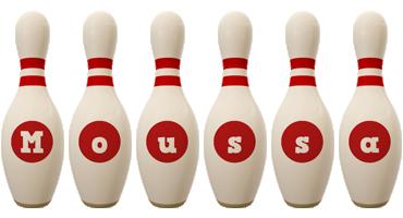 Moussa bowling-pin logo