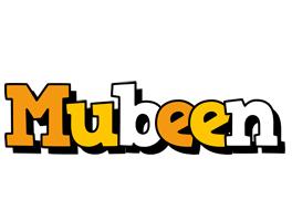 Mubeen cartoon logo