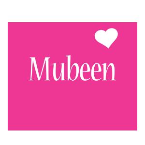 Mubeen love-heart logo