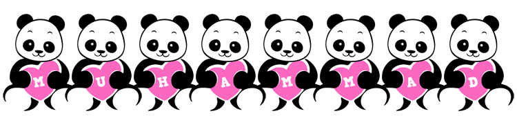 Muhammad love-panda logo