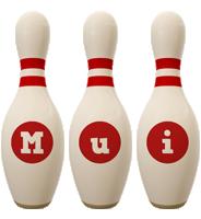 Mui bowling-pin logo