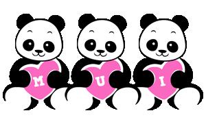 Mui love-panda logo