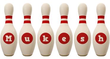 Mukesh bowling-pin logo