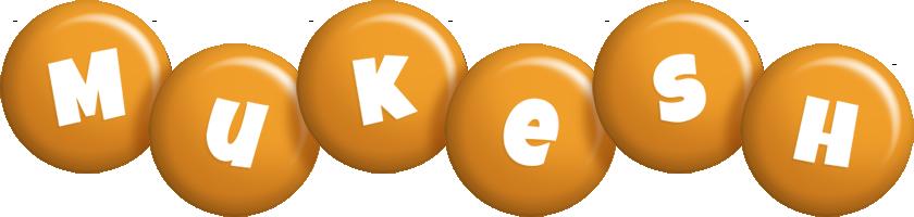 Mukesh candy-orange logo
